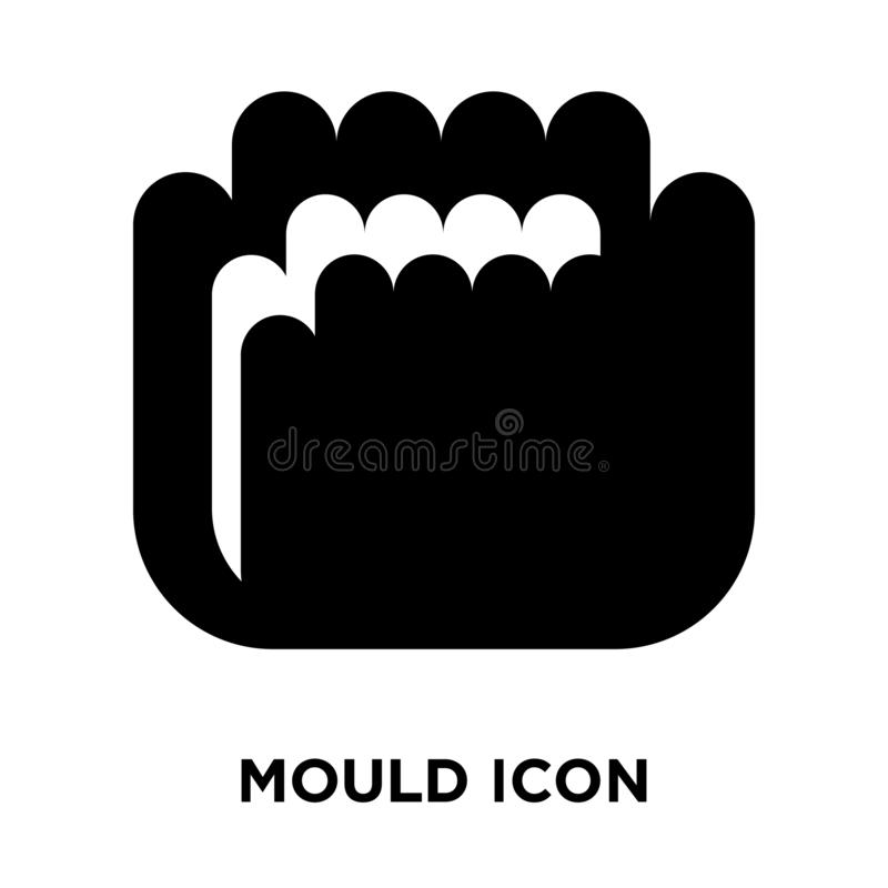 Mould icon vector isolated on white background, logo concept of royalty free illustration