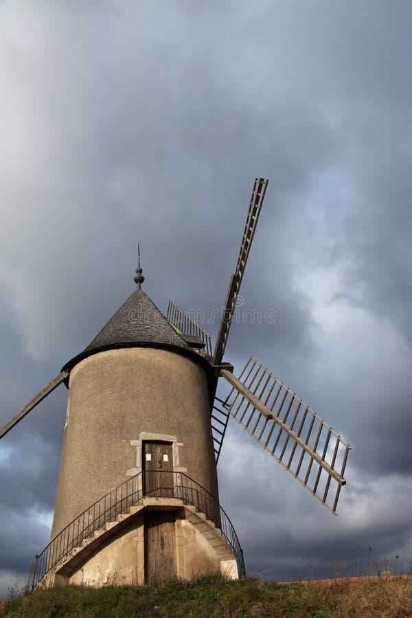 Moulin一个出气孔在博若莱红葡萄酒 免版税图库摄影
