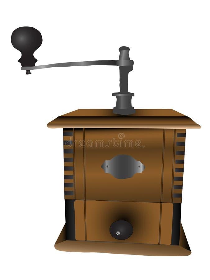 Moulin à café illustration stock