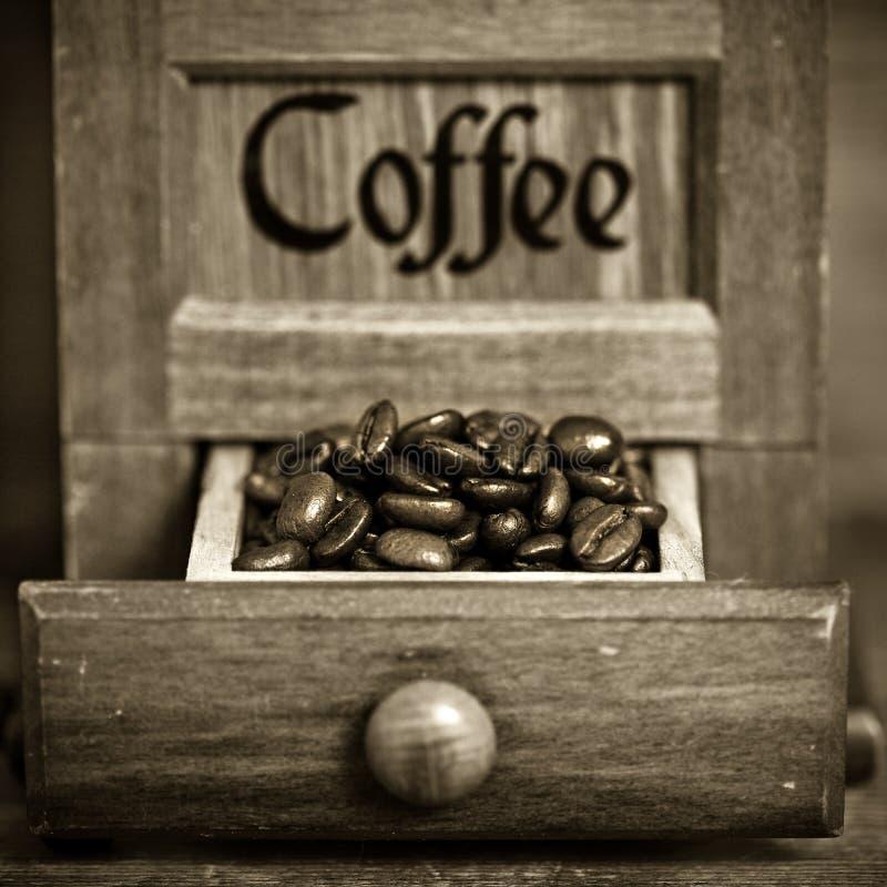 Moulin à café de cru photo libre de droits