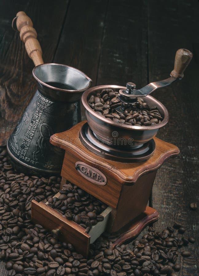Moulin à café de poignée image stock