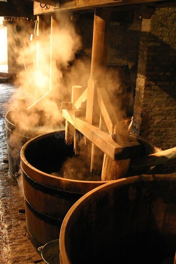 Moulin à papier démodé. photo stock