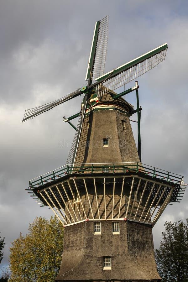 Moulin à vent à Amsterdam, Pays-Bas photographie stock