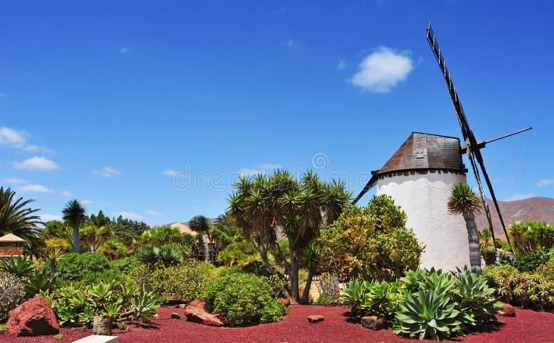 Moulin à vent à l'Antigua, Fuerteventura, Îles Canaries, Espagne photos stock