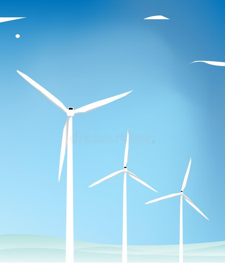 Moulin à vent illustration libre de droits