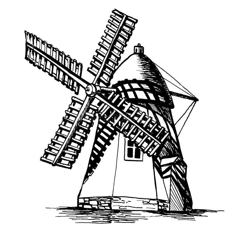 Moulin à vent 6 illustration libre de droits