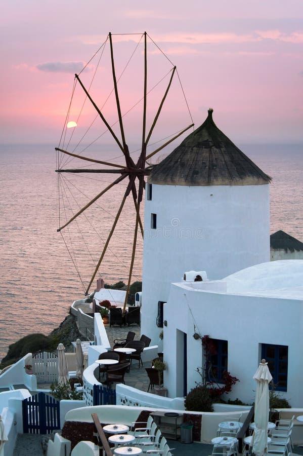 Moulin à vent d'Oia photos stock