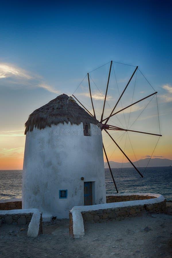 Moulin à vent dans Mykonos photos stock