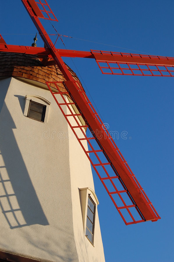 Moulin à vent dans Solvang photo libre de droits