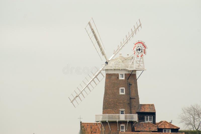 Moulin à vent de Cley de début du 19ème siècle photo libre de droits