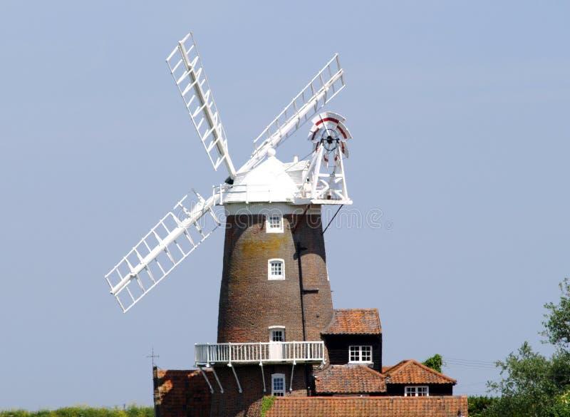 Moulin à vent de Cley - Norfolk photo stock