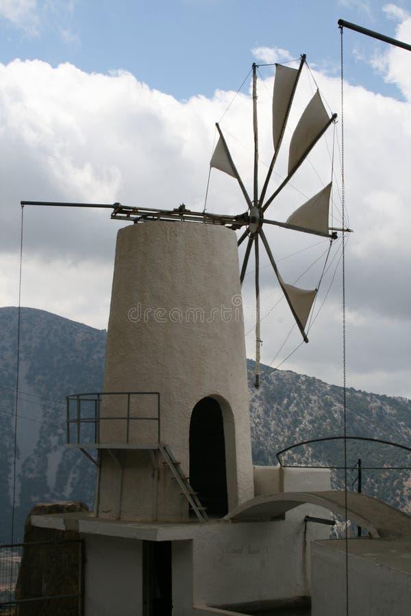 Moulin à vent de Crète photographie stock libre de droits