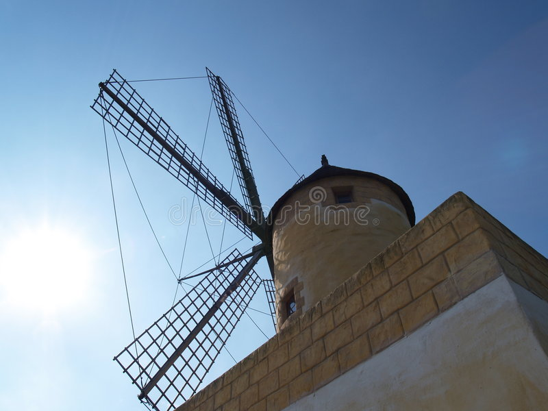 Moulin à vent de Mallorcan photos stock