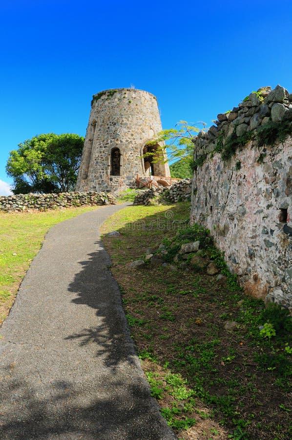 Moulin à vent de plantation d'Annaberg image stock