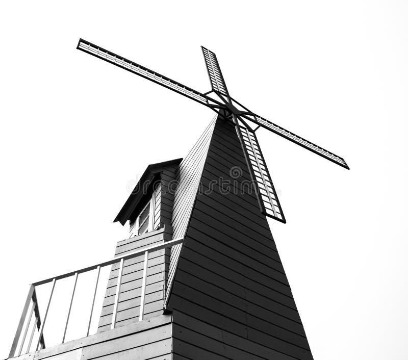Moulin à vent de silhouette photo stock