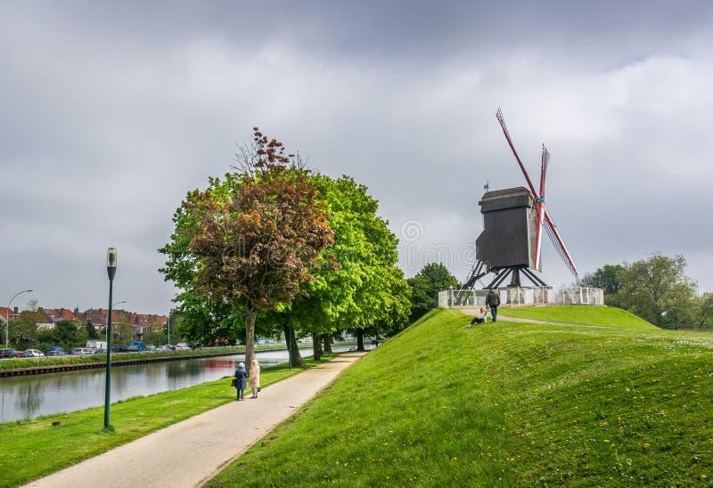 Moulin à vent de St Janshuis photos libres de droits