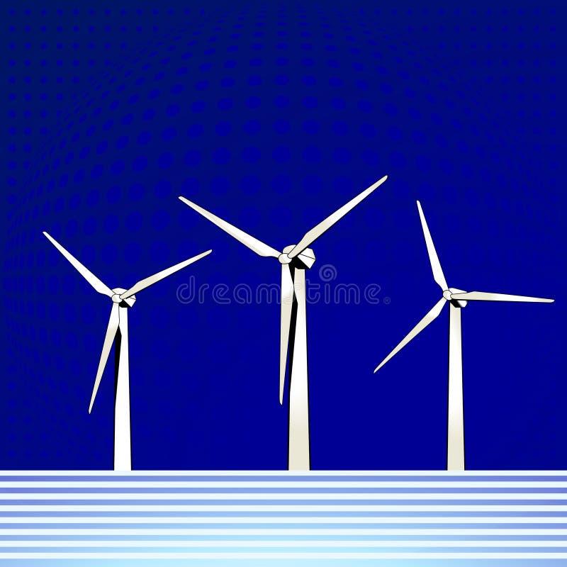 Moulin à vent extraterritorial illustration libre de droits