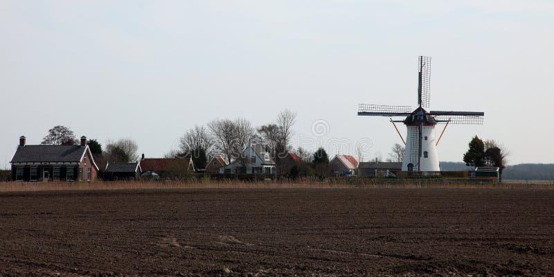Moulin à vent historique, une partie d'horizontal agricole photo libre de droits