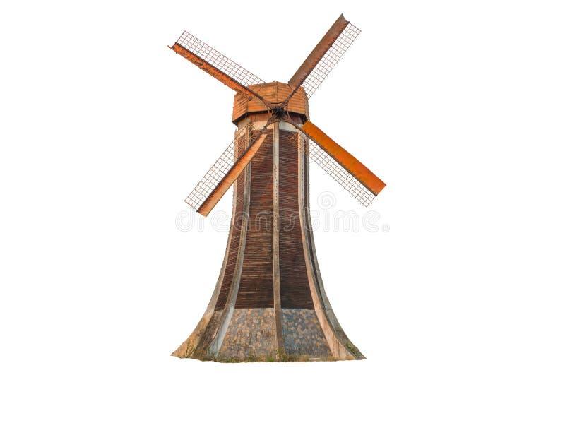 Moulin à vent hollandais d'isolement images libres de droits