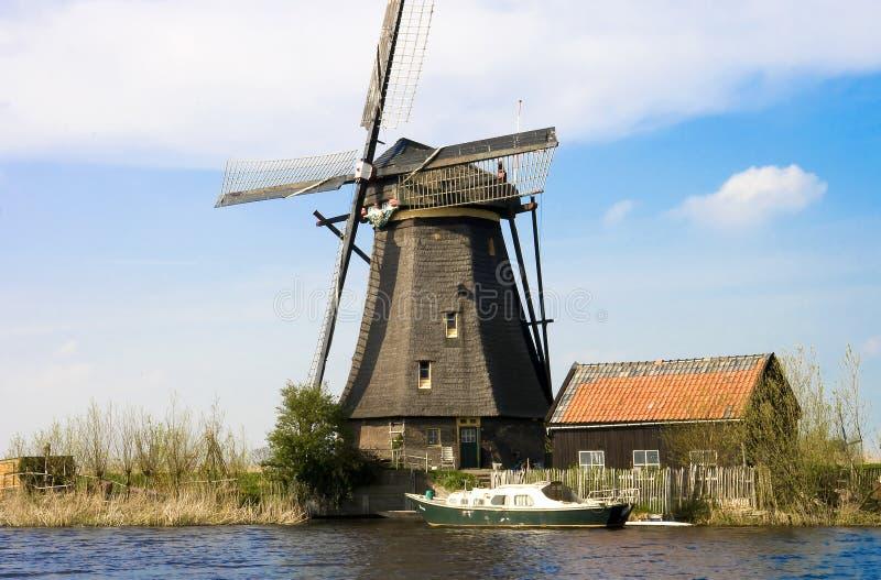 Moulin à vent Hollande images libres de droits