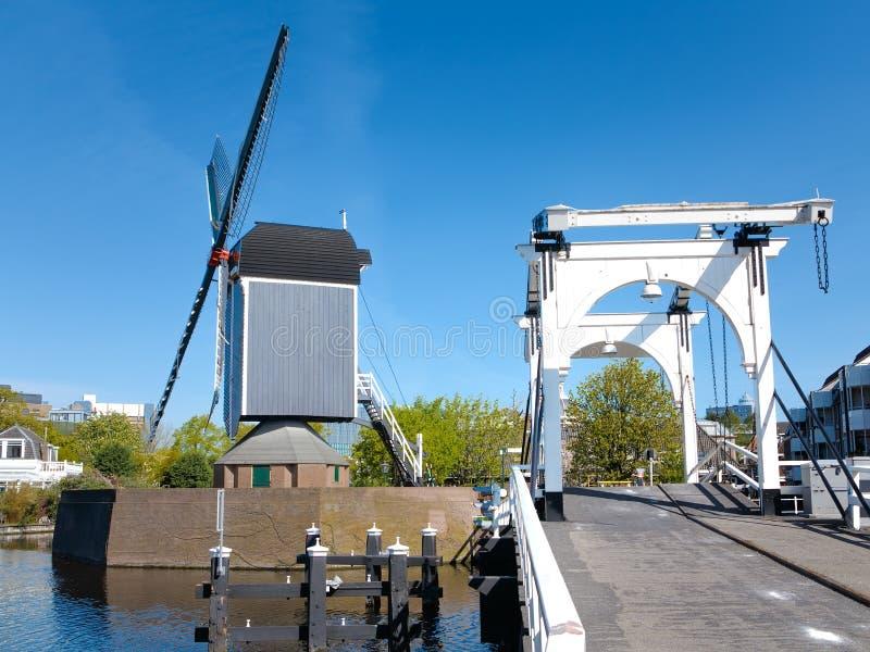 Moulin à vent interne de ville de Leyde photos libres de droits