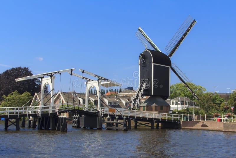 Moulin à vent interne de ville de Leyde photo stock