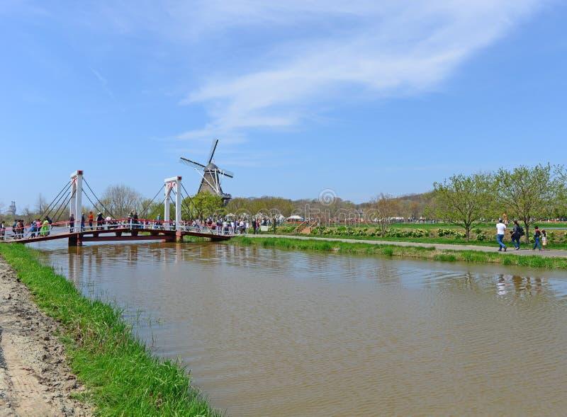 Moulin à vent néerlandais chez 2019 la Hollande, Michigan Tulip Festival images libres de droits