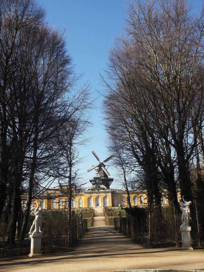 Moulin à vent, Potsdam, Allemagne photo libre de droits