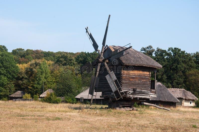 Moulin antique dans un musée Pirogovo en plein air photos libres de droits