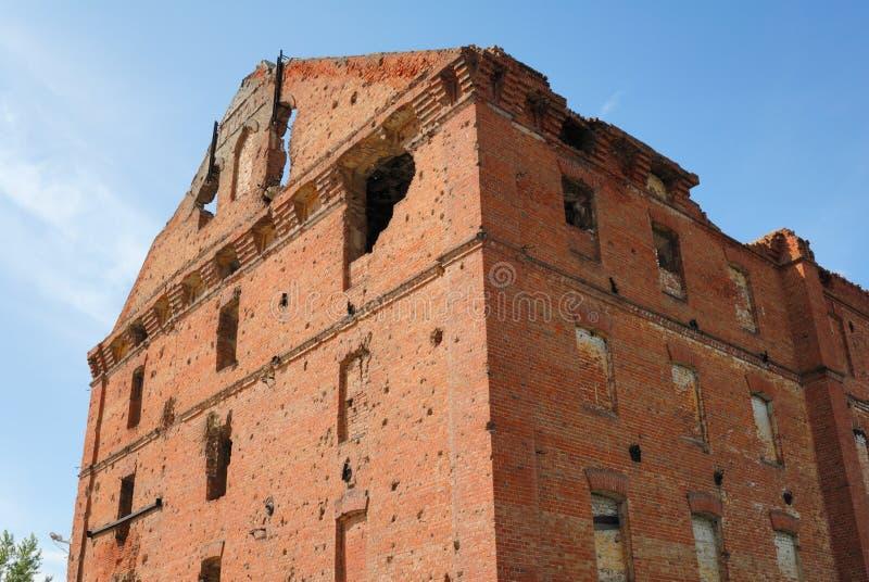 Moulin détruit par combat de Stalingrad de panorama de musée photographie stock