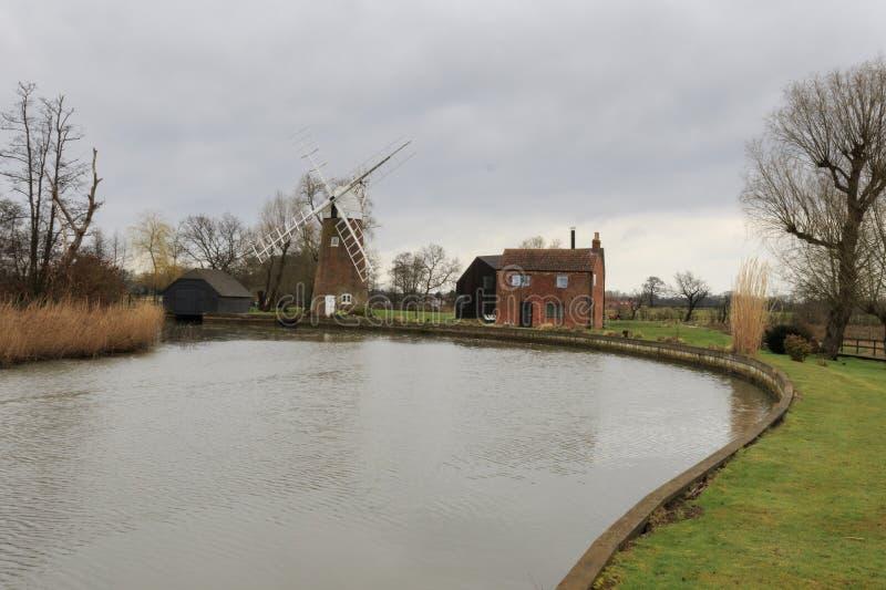 Moulin de drainage de Hunsett images stock