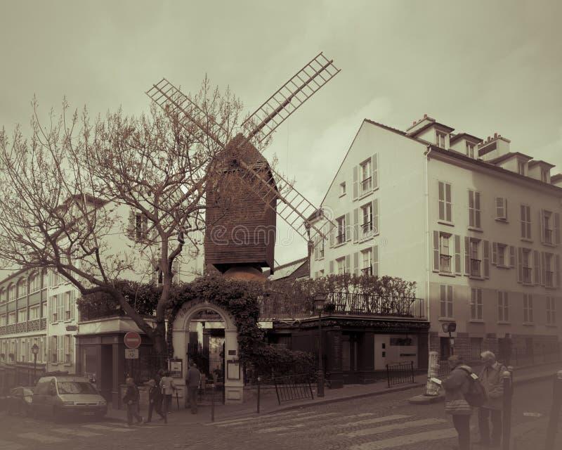 Moulin de la galette à Paris photo libre de droits