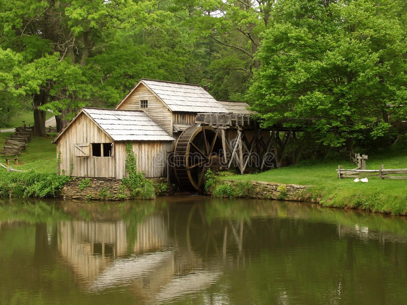 Moulin de Mabry, Ridge Parkway bleu photo stock