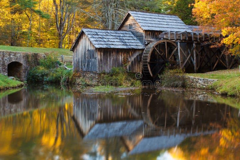 Moulin de Mabry, Ridge Parkway bleu photos libres de droits