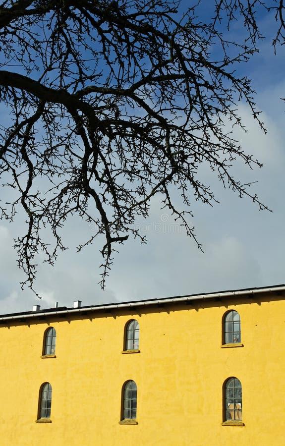 Moulin de vent dans Horsholm, Danemark photos libres de droits