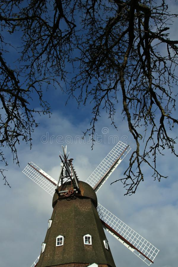 Moulin de vent dans Horsholm, Danemark photo stock