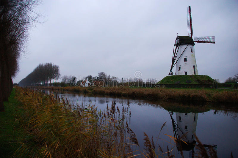 Moulin en Hollande image stock