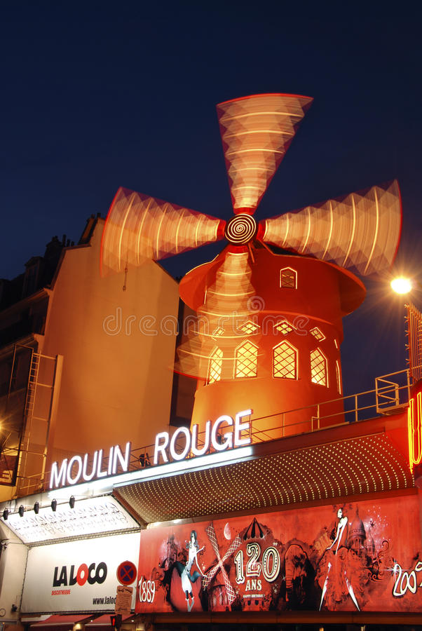Download Moulin Rouge editorial stock photo. Image of france, wind - 18087333