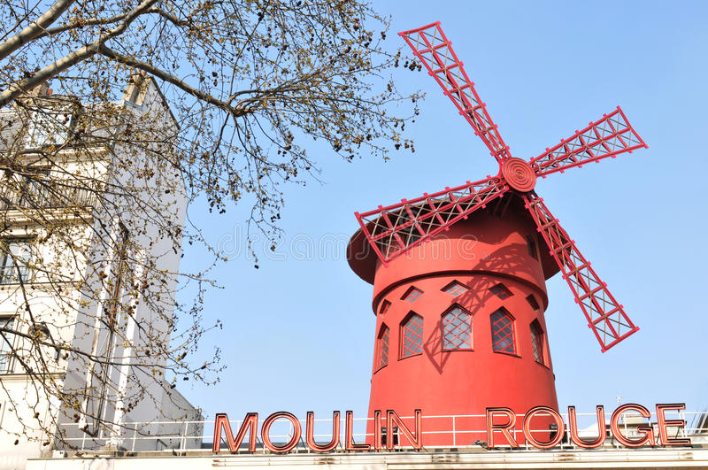 Download Moulin rouge editorial stock image. Image of tourism - 19034739
