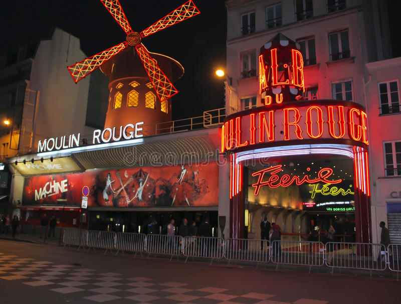 Moulin Rouge lizenzfreies stockfoto