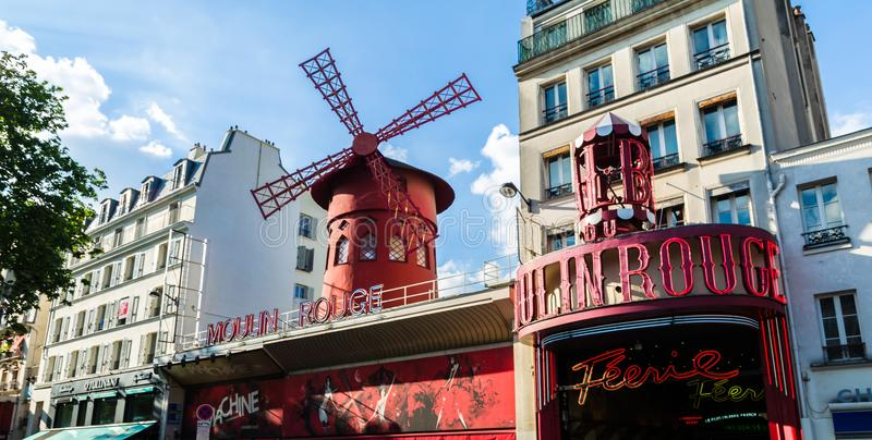 Moulin Rouge cabaret in Paris royalty free stock photography