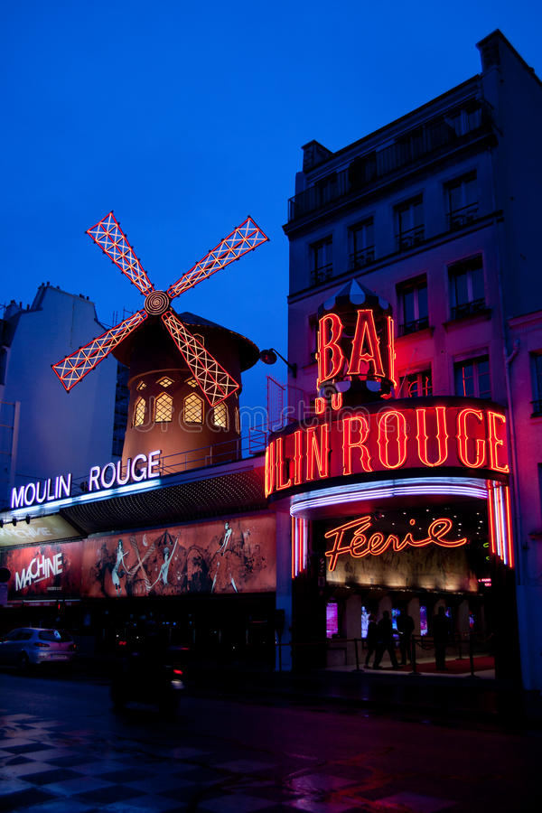 Moulin Rouge cabaret in Paris royalty free stock photos
