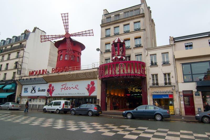 Moulin Rouge Kabarett in Paris, Frankreich lizenzfreies stockbild