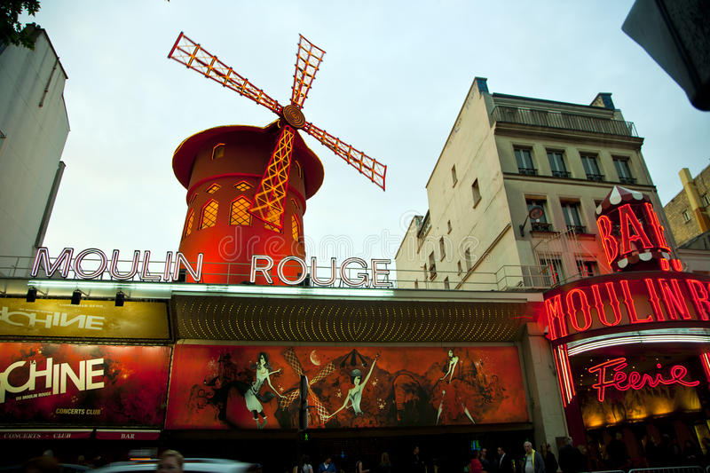 Download Moulin Rouge, Paris - editorial image. Image of evening - 19414280