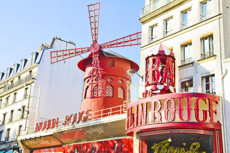 Download The Moulin Rouge, Paris editorial stock image. Image of europe - 27664959
