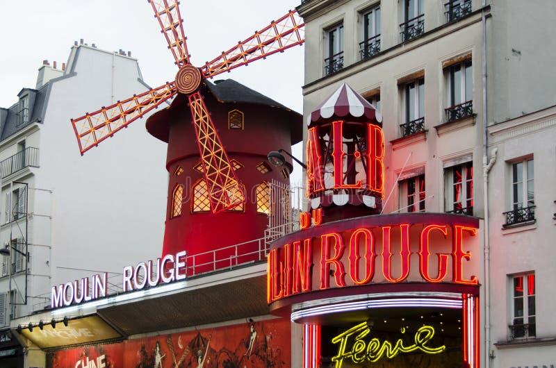 Moulin rouge - Paris royaltyfria foton
