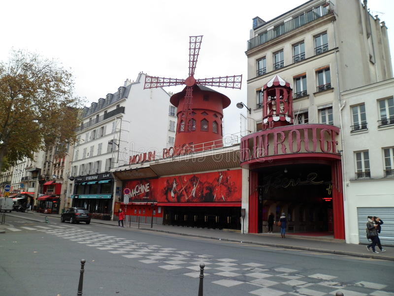 The Moulin Rouge, Paris royalty free stock image