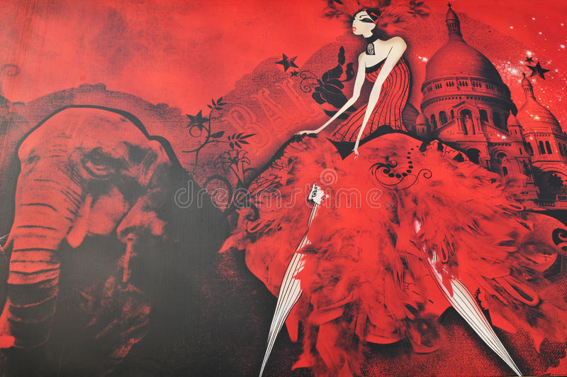 Moulin Rouge (Sonderkommando) vektor abbildung