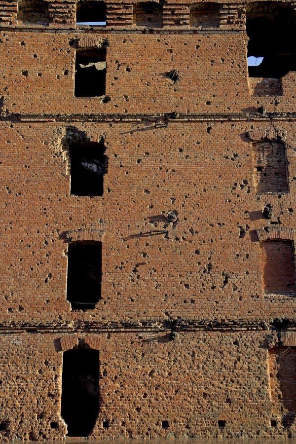 Moulin ruiné à Volgograd image libre de droits