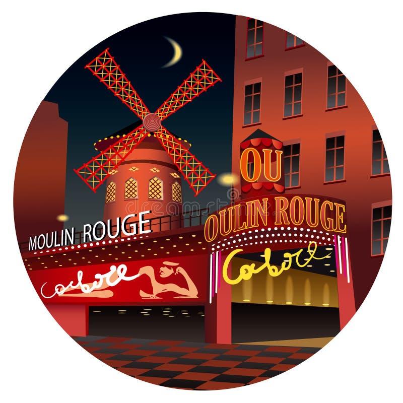 Moulin Szminka ilustracja wektor